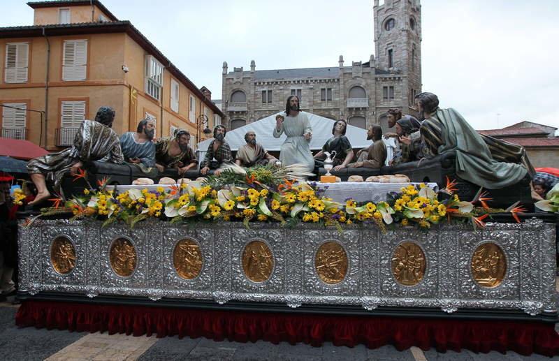 Procesión Sagrada Cena Semana Santa León